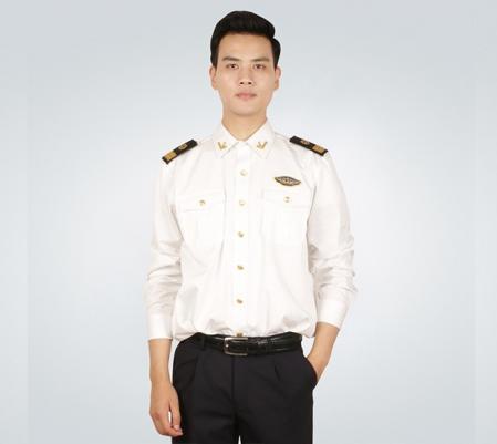 中国海事男士春秋季长袖衬衫套装
