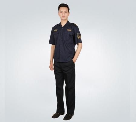 中国海事男士夏季短袖衬衫套装