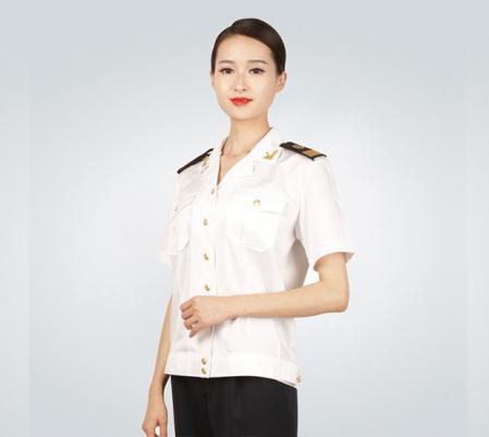 中国海事女士夏季短袖衬衫