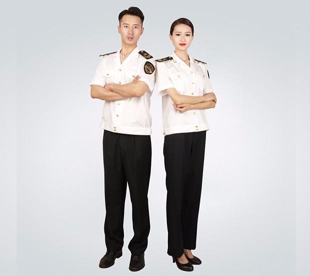 中国海事男士夏季短袖衬衫