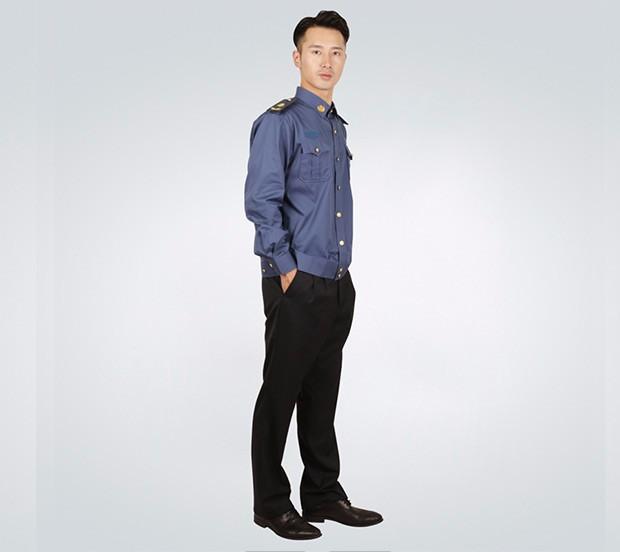 男士春秋季长袖衬衫交警服