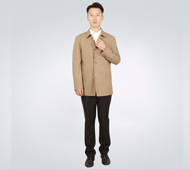 商务型男士短款风衣外套